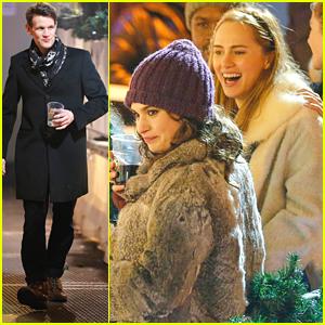 Lily James & Matt Smith Run Into Suki Waterhouse at Winter Wonderland Opening