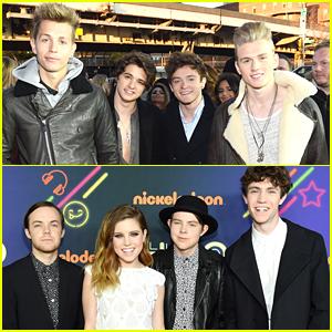 Fifth Harmony Photo Bomb The Vamps at Nickelodeon HALO Awards 2014