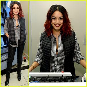 Vanessa Hudgens Plays DJ for Eddie Bauer Event