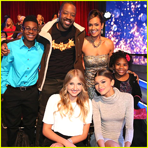 Zendaya & Her K.C. Undercover Cast Support Val & Janel at DWTS