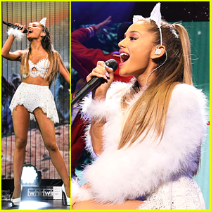 Ariana Grande Becomes A Christmas Angel At Q102's Jingle Ball Bash