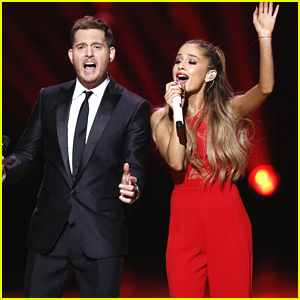 Ariana Grande & Michael Buble Let Us Know 'Santa Claus Is Coming To Town' - Watch Now (Video)