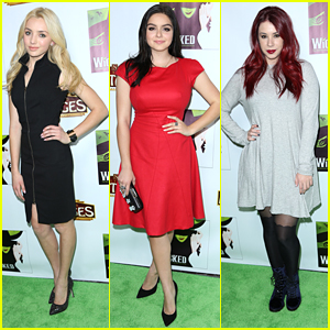 Peyton List & Ariel Winter Show Off 'Wicked' Style At Pantages Theatre