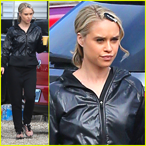 Becca Tobin Grabs Coffee On 'Glee' Set After First Promo Debuts