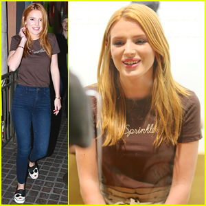 Bella Thorne Serves Up Sprinkles Cupcakes To Grove Shoppers