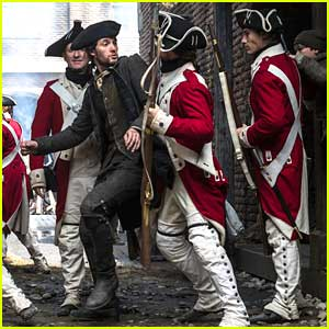 Ben Barnes Puts Up A Fight Against The Red Coats In New 'Sons of Liberty' Stills