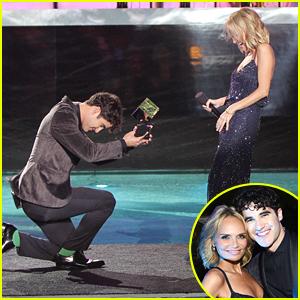 Darren Criss Bows Down To Kristin Chenoweth At NewNowNext Awards 2014