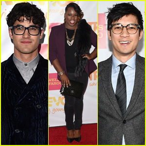 Darren Criss & More 'Glee' Stars Step Out for TrevorLIVE LA!
