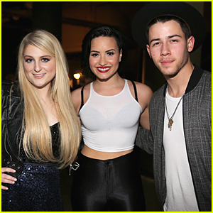Meghan Trainor Gushes About Demi Lovato & Nick Jonas at Jingle Ball 2014