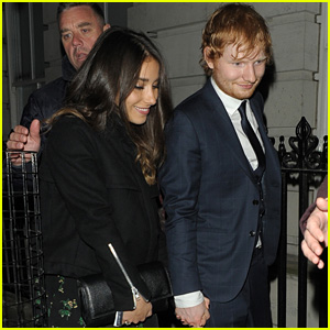 Ed Sheeran & Girlfriend Athina Andrelos Hold Hands After He Drops New Song 'Make It Rain'