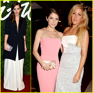 Emma Watson, Anna Kendrick, & Ellie Goulding Keep it Chic for British Fashion Awards 2014!