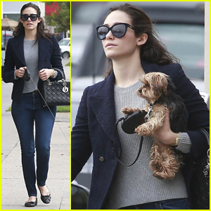 Emmy Rossum Really Makes Us Want to Get a Cute Puppy, Like Now