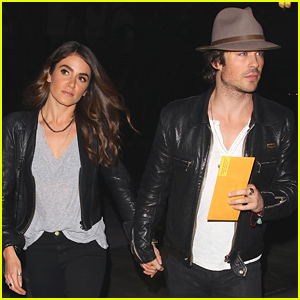 Nikki Reed & Ian Somerhalder Wear Matching Leather on Their Lakers Date Night!