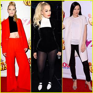 Iggy Azalea & Rita Ora Are Black Widows at Z100 Jingle Ball