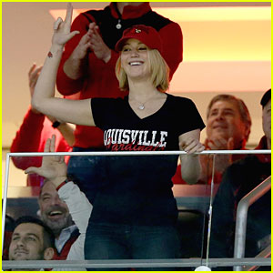 Jennifer Lawrence Gets Into the Spirit at a Louisville Cardinals' Game - Watch Here!