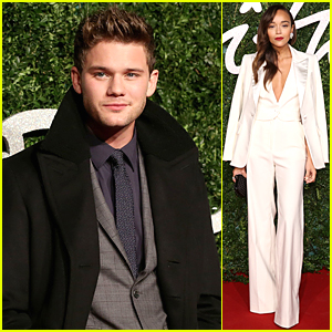 Jeremy Irvine & Ashley Madekwe Suit Up For British Fashion Awards
