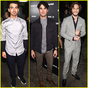 Joe Jonas & Darren Criss Are a Handsome Duo at Paper Magazine's Break the Internet Release