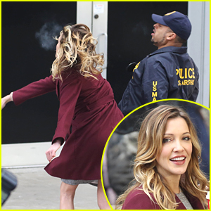 Katie Cassidy Throws Some Punches Around The 'Arrow' Set