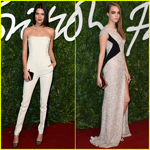 Kendall Jenner & Cara Delevingne Buddy Up for Flight to British Fashion Awards 2014