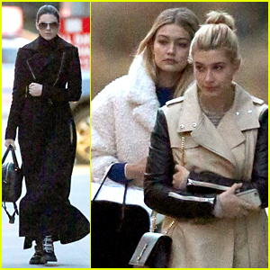 Kendall Jenner, Gigi Hadid, & Hailey Baldwin Are Inseparable After Photo Shoot in NYC