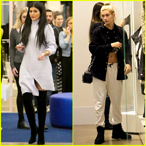Kylie Jenner & Hailey Baldwin's Shopping Trip Runs a Little Bit Late
