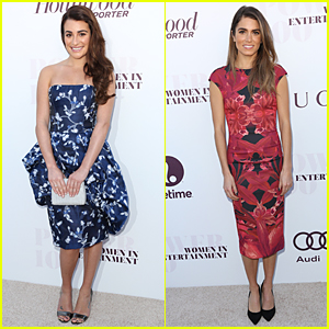 Lea Michele & Nikki Reed Are Brunette Bombshells at THR Women in Entertainment Breakfast