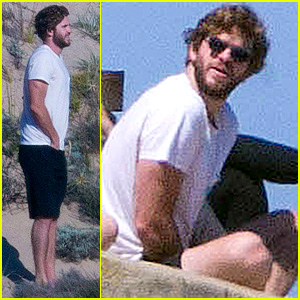Liam Hemsworth Takes a Beachside Break with Friends in Australia