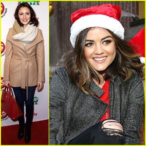 Lucy Hale & Italia Ricci Skate Into ABC Family's Winter Wonderland