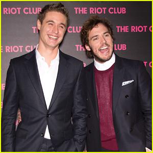 Max Irons & Sam Claflin Have a Blast at Their Movie Premiere