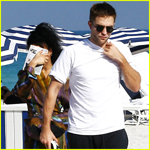Robert Pattinson & FKA twigs Enjoy Relaxing Beach Day Together