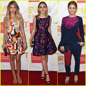 Sarah Hyland & Kiernan Shipka Bring Serious Style to TrevorLIVE LA!