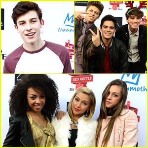 Shawn Mendes & Sweet Suspense Hit Up Salvation Army's Rock The Red Kettle Concert