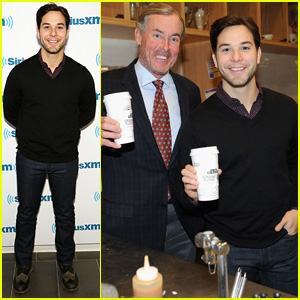 Skylar Astin Serves Coffee to Lucky NYC Coffee Bean Patrons