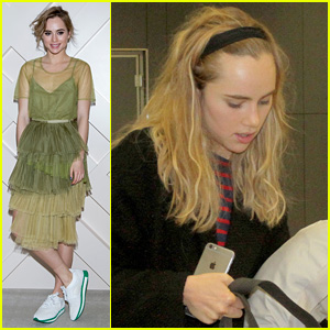 Suki Waterhouse Keeps Her Pillow Close By While Traveling From South Korea to Brazil