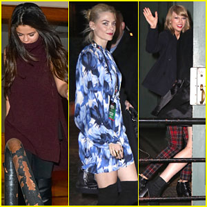 Selena Gomez & Jaime King Partied Into the Next Day for Taylor Swift's Birthday!