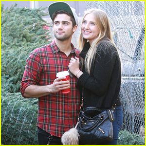 Veronica Dunne & Max Ehrich Make One Cute Christmas Couple!