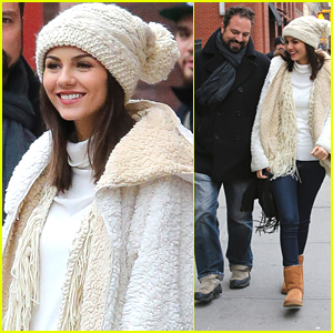 Victoria Justice Gets Winter Ready With BFF Vincent in New York City