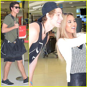 5SOS's Calum Hood & Luke Hemmings Hang With Fans After Flight To Sydney