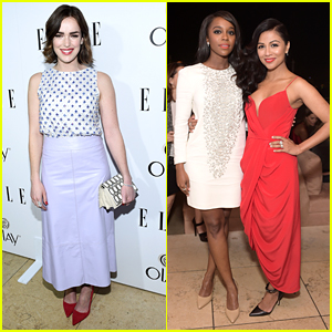 Elizabeth Henstridge & Aja Naomi King Dress To Impress at Elle's Women In Television Celebration