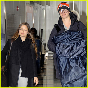 Ansel Elgort & Ex-Girlfriend Violetta Komyshan Arrive in D.C. Together