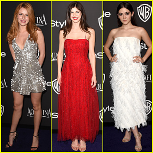 Bella Thorne & Alexandra Daddario Go Glam for the Golden Globes 2015 After Party