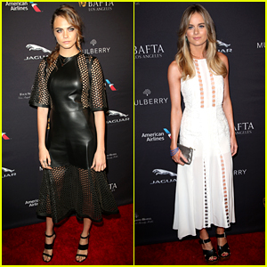 Cara Delevingne Has 'Tulip Fever' with Cressida Bonas at BAFTA Tea Party!
