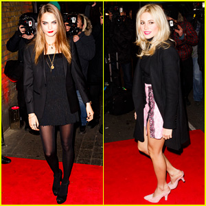 Cara Delevingne & Pixie Lott Love Their Lips!