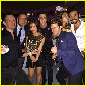 Colton Haynes & Ally Maki Ring in 2015 with an 'N Sync Member!