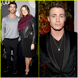 Jane the Virgin's Justin Baldoni Brings Wife Emily to Pre-Globes Party!