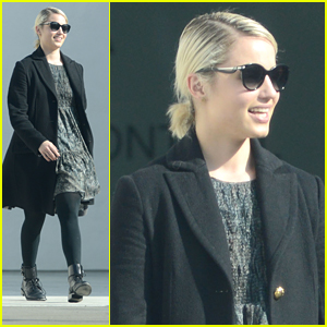 Dianna Agron Finishes Up Business Meetings Before Sundance Film Festival