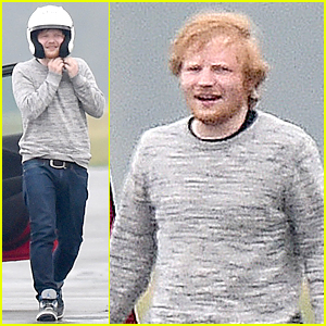 Ed Sheeran is a Speed Demon on Race Track