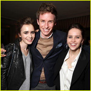 Lily Collins Celebrates Eddie Redmayne's Globes Win at Special Dinner!