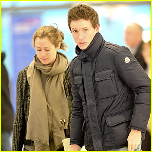 Newlyweds Eddie Redmayne & Hannah Bagashwe Fly Out of London For New Year