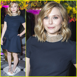 Elizabeth Olsen Supports Fight Against AIDS at Sidaction Gala Dinner 2015!
